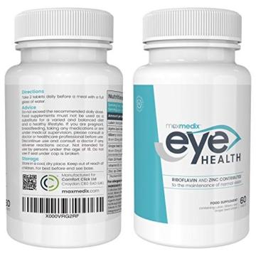 Luteina per Occhi - Integratore Per Occhi e Vista - Migliora la Visione con Vitamine, Luteina, Mirtillo e Olio di Pesce, Antiossidanti Naturali, Sostiene la Salute degli Occhi, Eye Health, 60 Capsule - 3