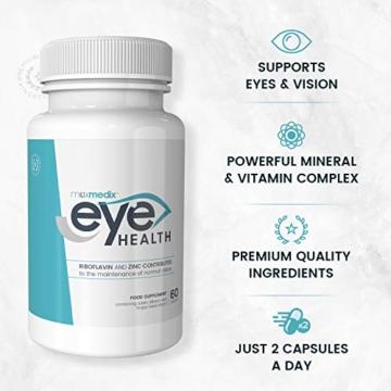 Luteina per Occhi - Integratore Per Occhi e Vista - Migliora la Visione con Vitamine, Luteina, Mirtillo e Olio di Pesce, Antiossidanti Naturali, Sostiene la Salute degli Occhi, Eye Health, 60 Capsule - 7