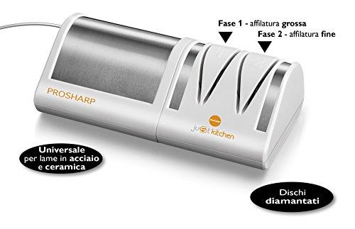 MACOM Just Kitchen 827 Prosharp Affilacoltelli Elettrico Professionale con dischi diamantati - 1