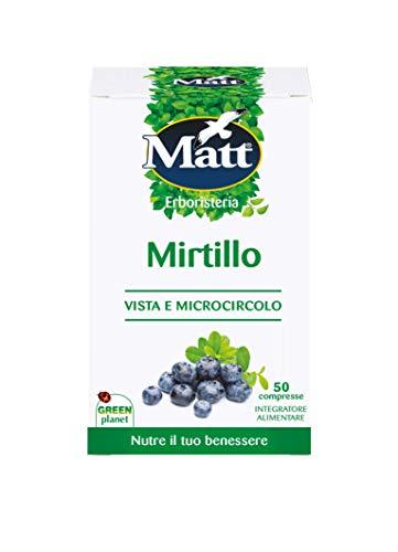 Matt - Integratore Mirtillo - Integratore Alimentare per il Benessere di Vista e Microcircolo - 50 Compresse (20 g) - 1