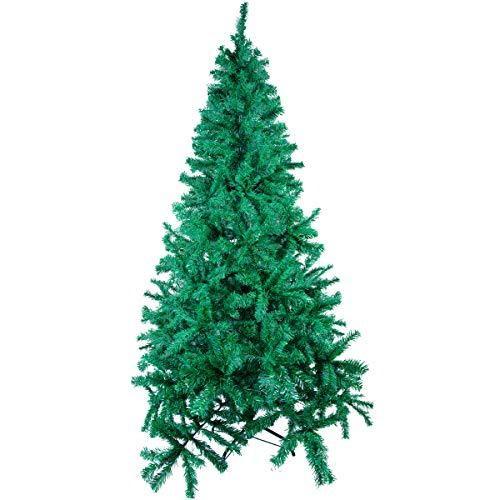 Mbuynow - Albero di Natale 600 con staffa in metallo artificiale, design fai da te, decorazione per interni ed esterni, ideale come regalo di Natale per la casa, per feste di nozze (1,8 m) - 1