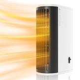 Mini Termoventilatore Torre Oscillante Compatto ed Elegante, 2 Modalità, 500W Stufa Elettrica Basso Consumo Energetico Riscaldamento da Tavolo Riscaldatore Elettrico Portatile per Casa Ufficio - 1