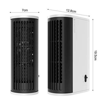 Mini Termoventilatore Torre Oscillante Compatto ed Elegante, 2 Modalità, 500W Stufa Elettrica Basso Consumo Energetico Riscaldamento da Tavolo Riscaldatore Elettrico Portatile per Casa Ufficio - 6