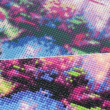 MXJSUA fai-da-Te Diamante 5D Pittura Kit Completo Trapano Tondo Strass Immagine Arte del mestiere per la Decorazione della Parete di casa 30x40 cm Scheletro Viola Fantasma e Drago - 9