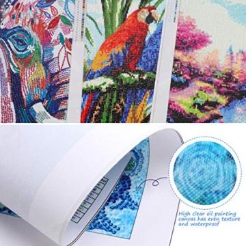 MXJSUA Pittura Diamante 5D Fai-da-Te con Kit numerici Trapano Tondo Pieno Immagine di Strass Artigianato per la Decorazione della Parete di casa Marilyn Monroe 30x30 cm - 2