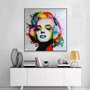 MXJSUA Pittura Diamante 5D Fai-da-Te con Kit numerici Trapano Tondo Pieno Immagine di Strass Artigianato per la Decorazione della Parete di casa Marilyn Monroe 30x30 cm - 3