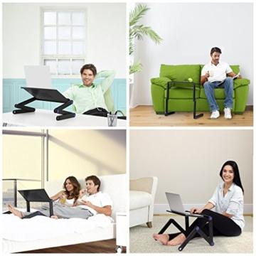 Nestling® Portable Laptop Desk Pc Sofa Stand Air Space Desk Supporto per Laptop Tavolo Pieghevole Tavolo per Laptop con Vassoio per Mouse Rimovibile e Barra Antiscivolo - 11