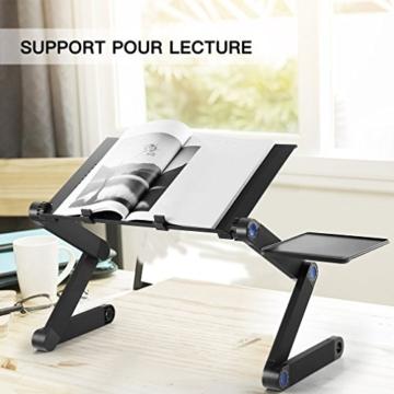 Nestling® Portable Laptop Desk Pc Sofa Stand Air Space Desk Supporto per Laptop Tavolo Pieghevole Tavolo per Laptop con Vassoio per Mouse Rimovibile e Barra Antiscivolo - 5