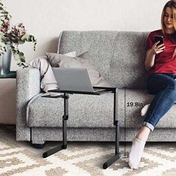 Nestling® Portable Laptop Desk Pc Sofa Stand Air Space Desk Supporto per Laptop Tavolo Pieghevole Tavolo per Laptop con Vassoio per Mouse Rimovibile e Barra Antiscivolo - 9