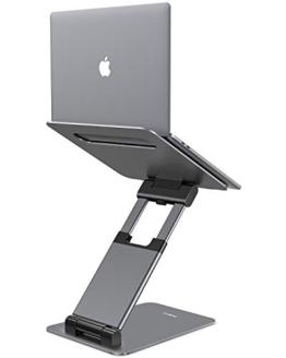 NULAXY Supporto per Laptop, ergonomico per Supporto Laptop, Altezza Regolabile da 2,1 a 21, Supporto Fino a 22 LB, Compatibile con MacBook, Tablet Tutti i Portatili-Grigio - 1
