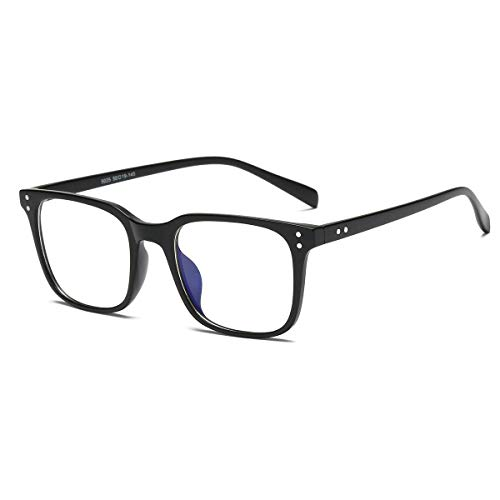 Occhiali Anti Luce Blu, Blue Light Blocking Glasses Anti Eyestrain Lens Cornice Quadrata Occhiali Uomo Donna Nero - 1