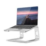 """OCDAY Supporto PC Portatile, Porta PC Laptop Stand in Alluminio Ergonomico, Ventilato Supporto per MacBook Air PRO, dell XPS, HP, Lenovo Altri Portatili da 10-15,6"""" (Argento) - 1"""