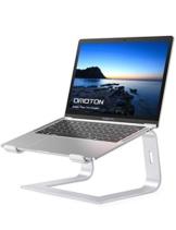 OMOTON Supporto PC Portatile, Supporto per Laptop in Alluminio, Stand Computer Portatile Compatibile con MacBook PRO/Air, Surface Laptop, Samsung, HP, Lenovo, Altri Laptop(10-15,6 Pollici), Argento - 1