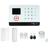 Owsoo Allarme Casa Kit 433MHz Allarme Senza Fili Wireless WIFI + GSM SMS Auto-dial LCD Sistemi di Allarme Domestico di Visualizzazione del Portello Sensore PIR Motion Sensor Telefonico Telecomando - 1