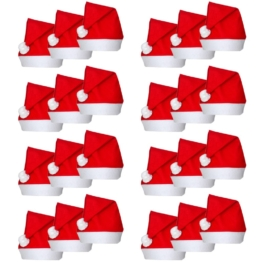 vidaXL Cappelli Babbo Natale 24 pz