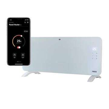 Princess Termoconvettore Vetro Smart 341501 - Controllo con App - 1500 W – Bianco - 1