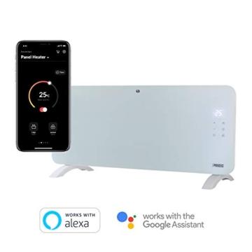 Princess Termoconvettore Vetro Smart 341501 - Controllo con App - 1500 W – Bianco - 6