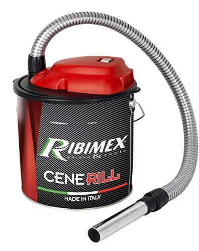 RIBIMEX PRCEN001, Cenerill Aspiracenere elettrico 1000 W, 18 L filtro intercambiabile con leva di riarmo - 1