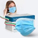 SANSIN Mascherina chirurgica Non Sterile di Tipo 1 a 3 Strati (Confezione di 50 Pezzi) - 1