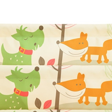 Songmics GKR71YL - Scaffale a 4 Livelli in Tessuto per Bambini, Finitura Acero, Multicolore, 62 x 28 x 72 cm - 6