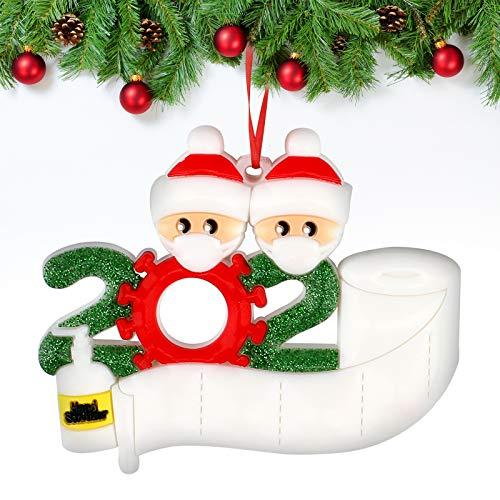 Sopravvissuto Famiglia Ornamento 2020 Quarantena Personalizzato Ornamenti Di Natale Decorazioni Per Albero Di Natale Ornamenti Famiglia Di Albero Di Natale Ornamento Casa Decorazione Regali Di Natale - 1