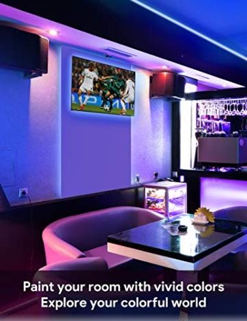 Striscia LED RGB, Strisce LED,TECKIN 5M LED TV Retroilluminazione Striscia,RGB 5050 Luce con 16 Colori,Con telecomando a infrarossi, Adatto per TV, Camera da Letto, Feste e Decorazioni per la Casa - 8