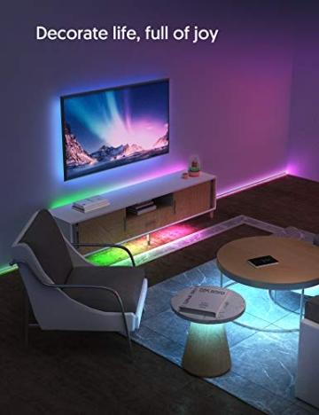 Striscia LED RGB, Strisce LED,TECKIN 5M LED TV Retroilluminazione Striscia,RGB 5050 Luce con 16 Colori,Con telecomando a infrarossi, Adatto per TV, Camera da Letto, Feste e Decorazioni per la Casa - 9