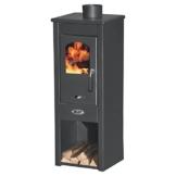 Stufa a legna 7kW antracite acciaio riscaldamento ambienti casa EKONOMIK LUX LM - 1