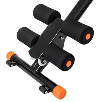 TechFit Dispositivo Pieghevole per l'Addome, Dispositivo di Modellazione dell'Addome Verticale 5 Minuti, Attrezzatura di Fitness Verticale, Piattaforma di Resistenza (Nero) - 6