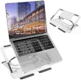 """TECOOL Supporto PC Portatile, Pieghevole Supporto per Laptop 5 Altezza Regolabile Ventilato Laptop Stand in Alluminio per MacBook PRO, Air, Tutti i Tablet/Notebook da 9,7""""~ 16"""" (Argento) - 1"""