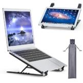 Tendak Supporto per laptop,laptop pieghevole,supporto portatile portatile,supporto per notebook,supporto per laptop regolabile,staffa dal design ergonomico,adatto per laptop/tablet da 9,7-17,3 pollici - 1
