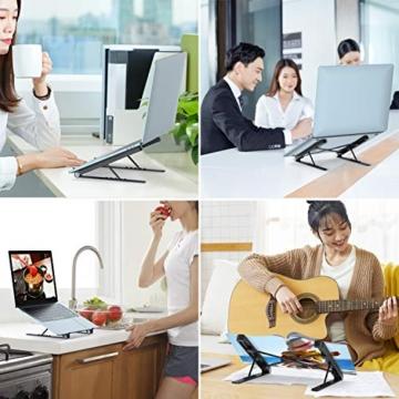 Tendak Supporto per laptop,laptop pieghevole,supporto portatile portatile,supporto per notebook,supporto per laptop regolabile,staffa dal design ergonomico,adatto per laptop/tablet da 9,7-17,3 pollici - 6