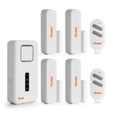 Tiiwee X1XL Allarme Casa Senza Fili con Sirena da 120 dB, 4 Sensori per Finestre Porta e 2 Telecomandi - Kit Antifurto - Batterie Incluse – Installazione Facile - Anti-Effrazione - Sicurezza Domestica - 1