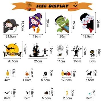 Tuopuda Halloween Decorazioni Adesivi per Finestre Vetrine Gatto Pipistrello Fantasma Vetrofanie Raccapriccianti Halloween Sticker Accessori Halloween per Halloween Party Festival Fantasma - 7