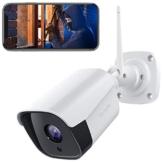 Victure FHD 1080P Telecamera IP esterna, Telecamera di Sicurezza con Rilevazione Movimento Telecamera WiFi con IP66 Visione Notturna Impermeabile 2 Vie Audio Compatibile con IOS/Android - 1