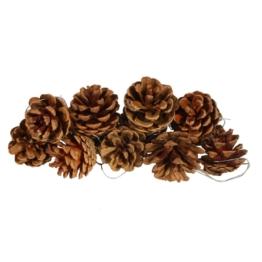 vidaXL Pigne decorative per Natale, 10