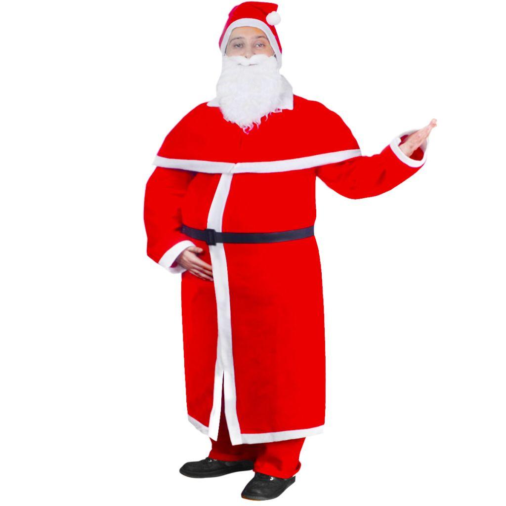 vidaXL Set Natale Costume lungo di Babbo Natale