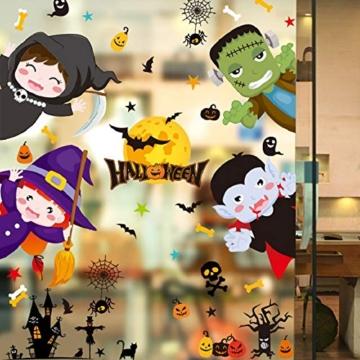 Voqeen Halloween Finestre Vetro Adesivi Pipistrelli Amico Adesivi Elettricità Statica Sticker Adesivi Accessori Halloween Finestra Adesivi per Halloween Party Decorazione Festival Fantasma - 2