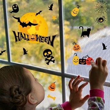 Voqeen Halloween Finestre Vetro Adesivi Pipistrelli Amico Adesivi Elettricità Statica Sticker Adesivi Accessori Halloween Finestra Adesivi per Halloween Party Decorazione Festival Fantasma - 3