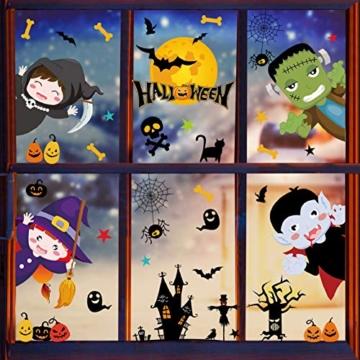 Voqeen Halloween Finestre Vetro Adesivi Pipistrelli Amico Adesivi Elettricità Statica Sticker Adesivi Accessori Halloween Finestra Adesivi per Halloween Party Decorazione Festival Fantasma - 1