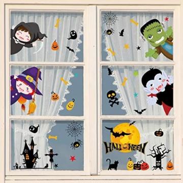 Voqeen Halloween Finestre Vetro Adesivi Pipistrelli Amico Adesivi Elettricità Statica Sticker Adesivi Accessori Halloween Finestra Adesivi per Halloween Party Decorazione Festival Fantasma - 5