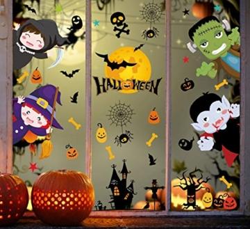 Voqeen Halloween Finestre Vetro Adesivi Pipistrelli Amico Adesivi Elettricità Statica Sticker Adesivi Accessori Halloween Finestra Adesivi per Halloween Party Decorazione Festival Fantasma - 6