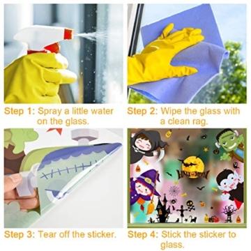 Voqeen Halloween Finestre Vetro Adesivi Pipistrelli Amico Adesivi Elettricità Statica Sticker Adesivi Accessori Halloween Finestra Adesivi per Halloween Party Decorazione Festival Fantasma - 8