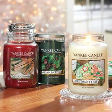 Yankee Candle Candela profumata in giara grande   Biscotto di Natale   Durata Fino a 150 Ore - 3