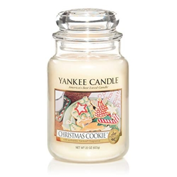 Yankee Candle Candela profumata in giara grande   Biscotto di Natale   Durata Fino a 150 Ore - 1