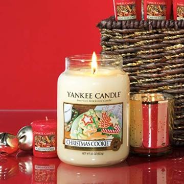 Yankee Candle Candela profumata in giara grande   Biscotto di Natale   Durata Fino a 150 Ore - 6