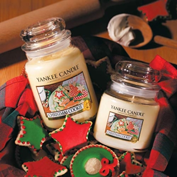 Yankee Candle Candela profumata in giara grande   Biscotto di Natale   Durata Fino a 150 Ore - 7