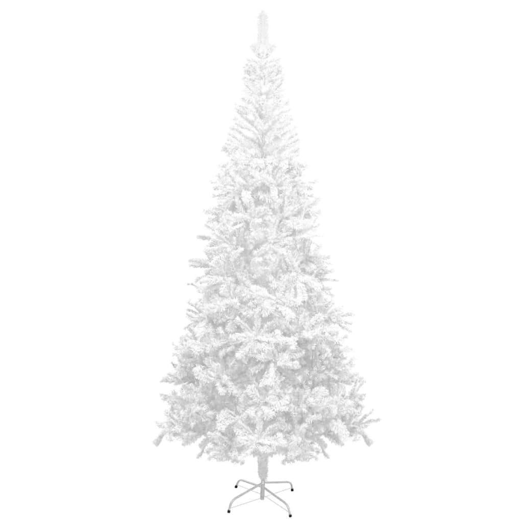 vidaXL Albero di Natale Artificiale L 240 cm Bianco