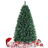 amzdeal Albero di Natale da 180 cm (750 Rami), Base Robusta e Ramo Verde, Albero di Natale Artificiale con Aghi Lunghi per Casa, Negozio, Parco, Festa ECC. - 1