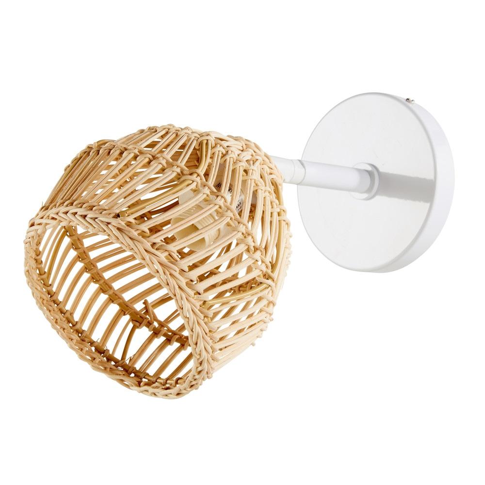 Dove acquistare Applique in fibra naturale e metallo bianco